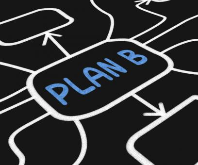 Free Stock Photo of Plan B Diagram Shows Contingency Or Fallback