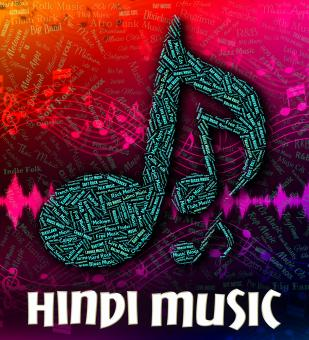 Free Stock Photo of Hindi Music Represents Sound Tracks And Hindustani