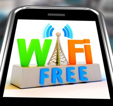 Free Stock Photo of Wifi Free On Smartphone Showing WiFi Broadcasting Area