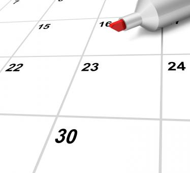Free Stock Photo of Blank Calendar Shows Plan Appointment Schedule Or Event