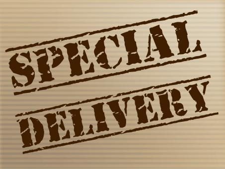 Free Stock Photo of Special Delivery Means Notable Courier And Unique