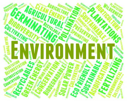 Free Stock Photo of Environment Word Shows Earth Friendly And Eco-Friendly