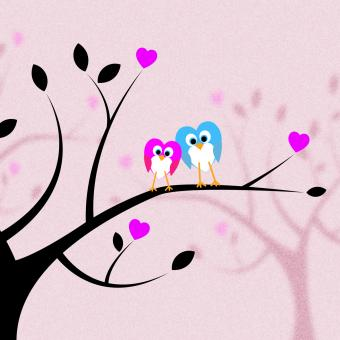 Free Stock Photo of Heart Together Means Valentines Day And Bird