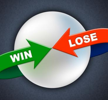 Free Stock Photo of Win Lose Arrows Shows Victory Success And Failing