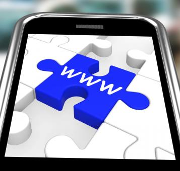 Free Stock Photo of WWW On Smartphone Showing Internet Browsing