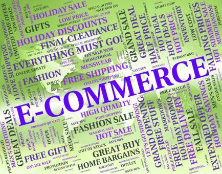 Free Stock Photo of Ecommerce Word Represents Online Business And Text