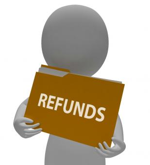 Free Stock Photo of Refunds Folder Means Money Back And Administration 3d Rendering