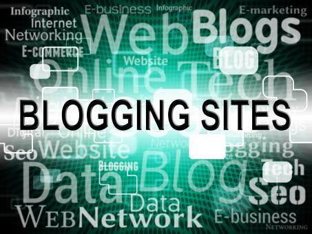 Free Stock Photo of Blogging Sites Shows Web Weblog And Websites