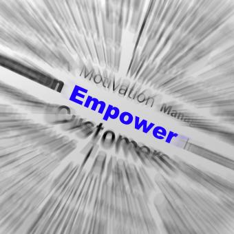 Free Stock Photo of Empower Sphere Definition Displays Motivation And business Encourageme