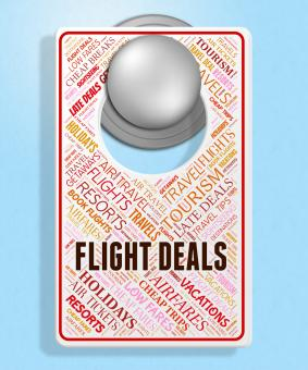 Free Stock Photo of Flight Deals Indicates Promotion Plane And Sign