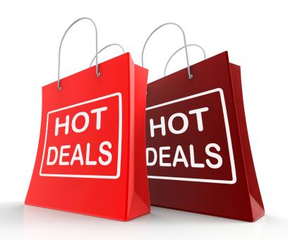 Free Stock Photo of Hot Deals Bags Show Shopping  Discounts and Bargains