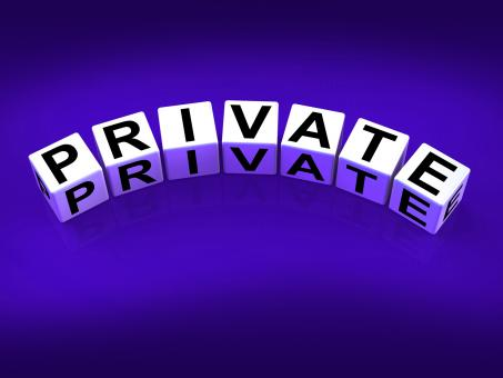 Free Stock Photo of Private Blocks Refer to Confidentiality Exclusively and Privacy