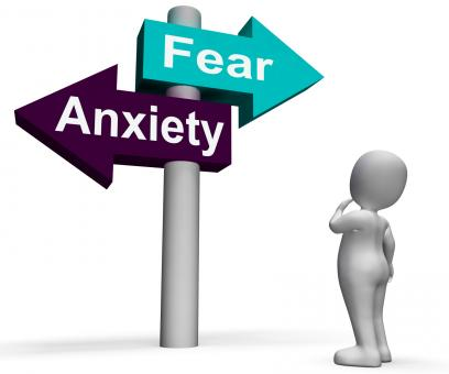 Free Stock Photo of Fear Anxiety Signpost Shows Fears And Panic