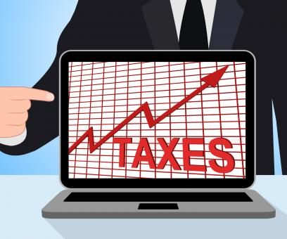 Free Stock Photo of Taxes Chart Graph Displays Increasing Tax Or Taxation