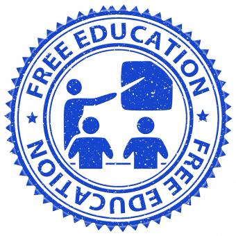 Free Stock Photo of Free Education Represents For Nothing And Learning