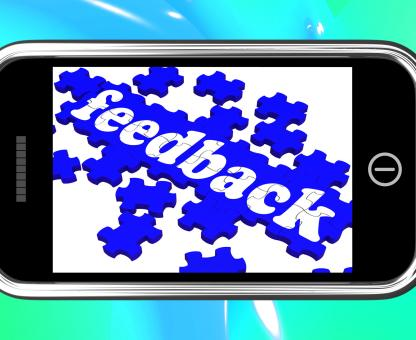 Free Stock Photo of Feedback On Smartphone Shows Customers' Satisfaction