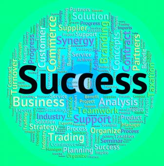 Free Stock Photo of Success Word Represents Win Wordcloud And Winner