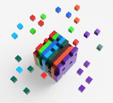 Free Stock Photo of Blocks scattered Showing Action And Solutions
