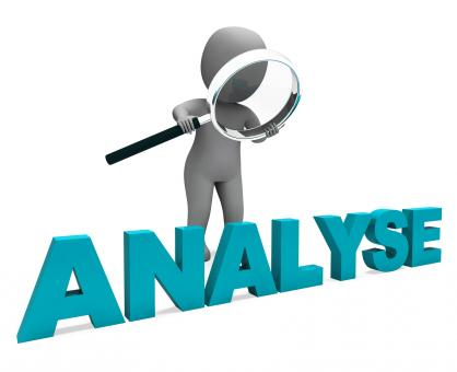 Free Stock Photo of Analyse Character Shows Investigation Analysis Or Analyzing
