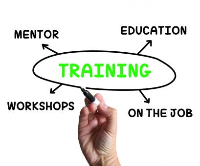 Free Stock Photo of Training Diagram Shows Mentorship Education And Job Preparation