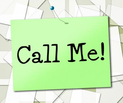 Free Stock Photo of Call Me Shows Placard Advertisement And Signboard