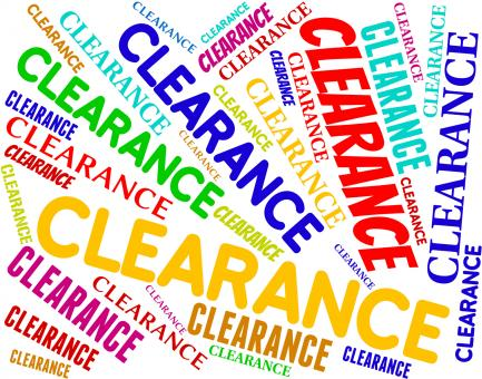 Free Stock Photo of Clearance Word Indicates Promotional Closeout And Offers