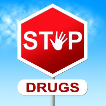 Free Stock Photo of Drugs Stop Indicates Forbidden Addicted And Rehab