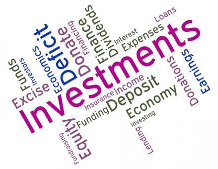 Free Stock Photo of Investments Word Indicates Roi Stock And Wordcloud