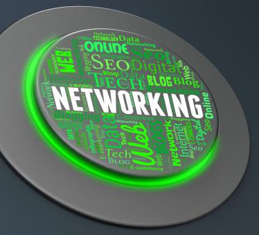 Free Stock Photo of Networking Button Means Global Communications And Computing