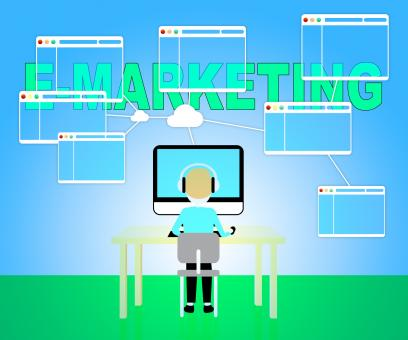 Free Stock Photo of Emarketing Online Represents Web Site And E-Marketing