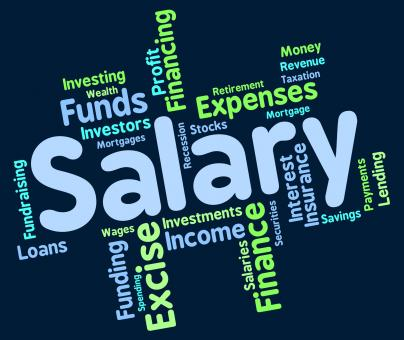Free Stock Photo of Salary Word Indicates Pay Salaries And Employees