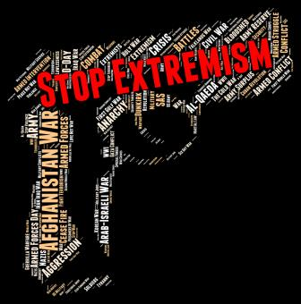 Free Stock Photo of Stop Extremism Indicates Warning Sign And Activism