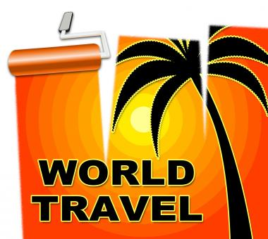 Free Stock Photo of World Travel Indicates Voyage Worldly And Globe