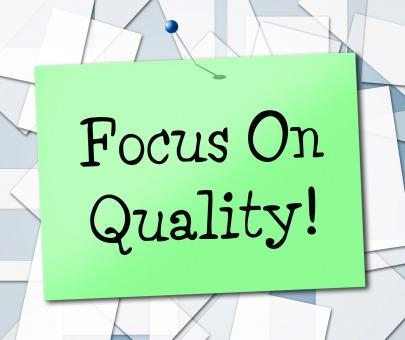 Free Stock Photo of Focus On Quality Represents Certify Approve And Excellent