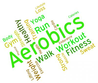 Free Stock Photo of Aerobics Words Means Working Out And Exercise