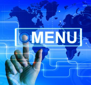Free Stock Photo of Menu Map Displays International Choices and Options