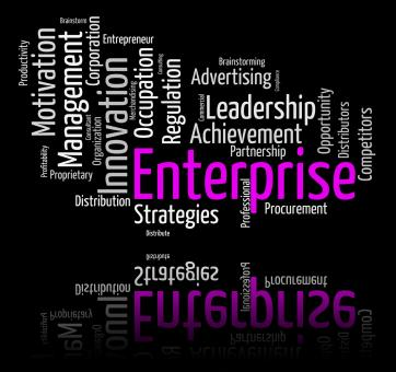 Free Stock Photo of Enterprise Word Represents Wordclouds Organization And Words