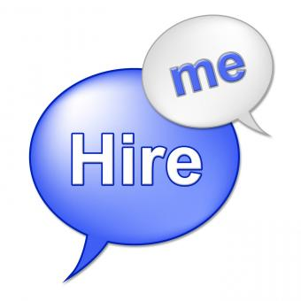 Free Stock Photo of Hire Me Sign Indicates Job Applicant And Employment
