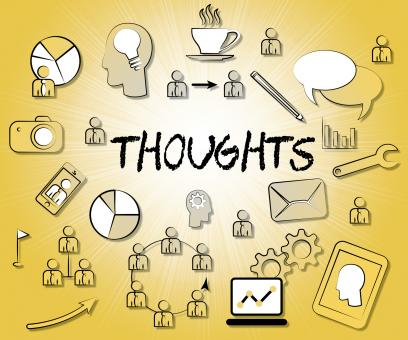 Free Stock Photo of Thoughts Icons Represents Idea Reflection And Sign