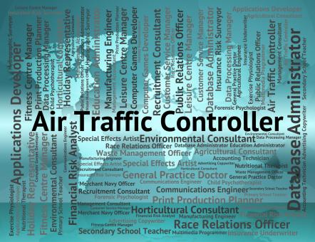 Free Stock Photo of Air Traffic Controller Shows Atc Occupation And Work