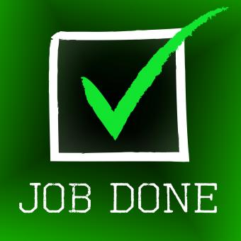 Free Stock Photo of Job Done Means Yes Passed And Ok