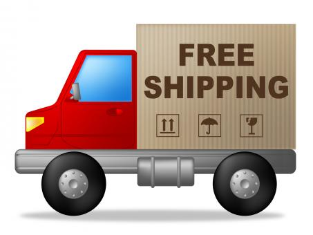 Free Stock Photo of Free Shipping Shows Truck Postage And Delivering