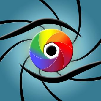 Free Stock Photo of Eye Spectrum Indicates Colour Splash And Colourful