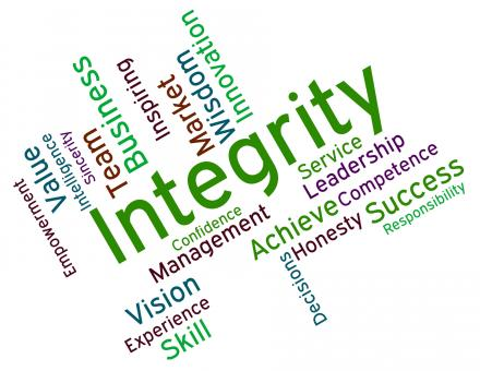 Free Stock Photo of Integrity Words Shows Virtue Text And Honesty