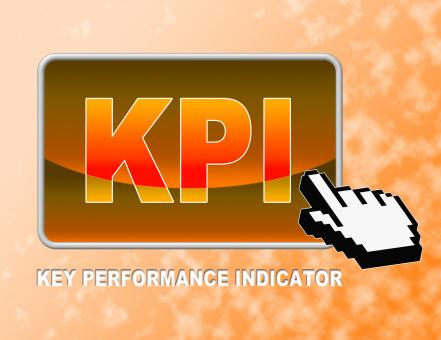 Free Stock Photo of Kpi Button Indicates Key Performance Indicators And Assessment