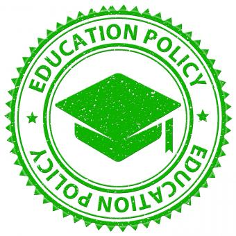 Free Stock Photo of Education Policy Shows Stamped Schooling And Procedure