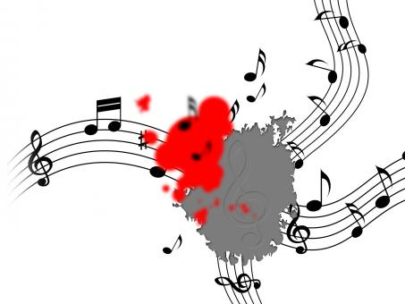 Free Stock Photo of Splat Music Shows Musical Note And Clef