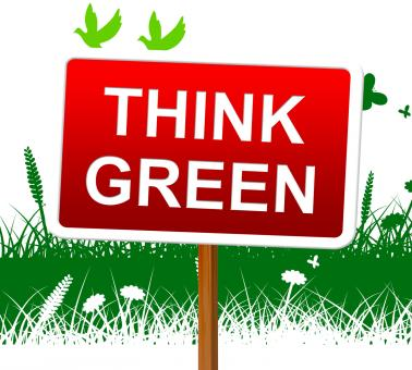 Free Stock Photo of Think Green Indicates Earth Day And About