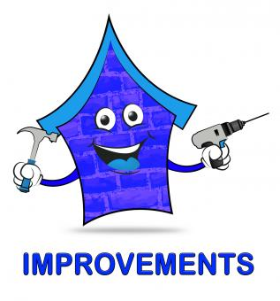 Free Stock Photo of House Improvements Represents Home Or Property Renovation