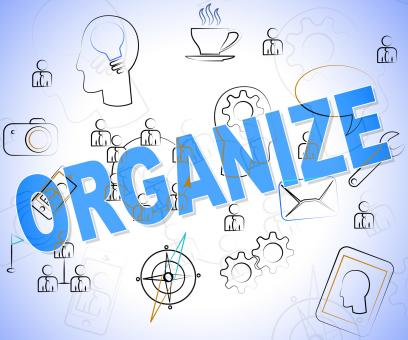 Free Stock Photo of Organize Word Means Arrange Arranged And Words